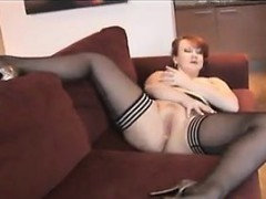 Mature Redhead With Big Boobs And Nylons