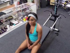 Hot Black muscled woman gets fucked hard