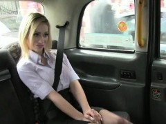 Massive boobs blondie amateur girl screwed by the cab driver