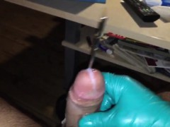Danish Guy - wanking and playing with sounds