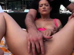 Horny Teen Katrina Jade Caught Playing Poolside By Lifeguard
