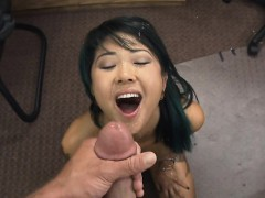 Dirty Asian Amateur Fucked And Facial In Pawn Shop Office