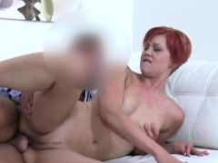 Redhead waitress fuck in casting