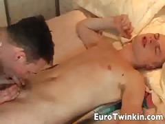 Euro twinks sensual hard fuck session
