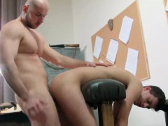 Alex makes the sexy twink Ryan Olsen to suck his hard cock