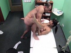 Horny doctor fucking mature patient