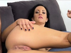 Babe played with dildo on casting interview