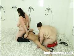 Hot BBW dominatrices