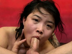 Charlee Anh close up face fucked hard