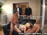 Blonde Wife Enjoys Interracial Banging