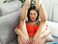 Naughty czech girl opens up her juicy cunt to the extreme