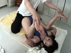 He's giving her a massage and starts getting touchy feely w