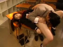 Cute Asian schoolgirl gets her juicy honey hole devoured an