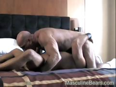 Muscular hairy ass fingered and fucked