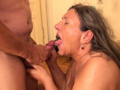 Busty granny Zolitaire enjoys being drilled hard