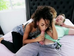 Ebony Teen Kendall Woods Gets Ruined By Neighbor