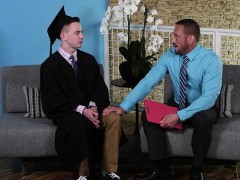 Desperate Student Fucks Older Counsellor To Graduate.