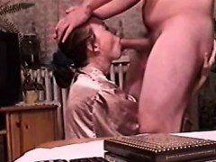 Sexy Redhead Giving Blowjob And Swallowing Cum