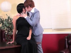 Steamy Office Lesbian Scene With Joslyn James And Lily Cade