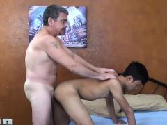 Daddy Bareback Fucks Asian Twink Andrew