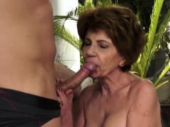 Granny Whore Sucks Cock