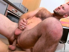 Hairy Gay Anal Sex And Facial Cum