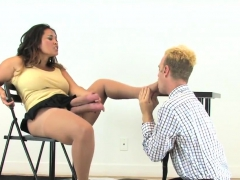 Teenies Drill Guys Butt Hole With Big Strap-ons And Squirt J