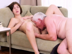 Naughty Old Lad Has Sex With Young Teen Gets Cock Sucked