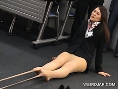 Two Japanese chicks strip in groupsex