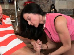 Two horny women Katie St Ives and Kendra Lust threesome