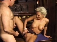 Two blondes get fucked hard in their tight asses and enjoy
