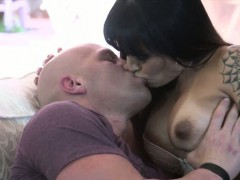 Big tits shemale TS Foxxy asshole banged by handsome guy