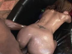 Angel Cummings gets her ebony twat stuffed