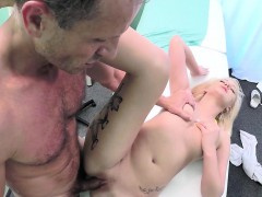 Blonde medical student gets sex lesson