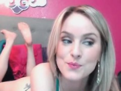 blonde gets bored when her husband is away