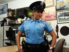 Big butt and big boobs police officer pounded by pawn guy