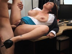Big tits milf pawns her pussy and gets fucked for money