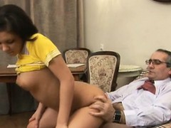 Hottie is getting her taut cunt fucked vigorously