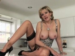 Unfaithful british mature lady sonia presents her giant knoc