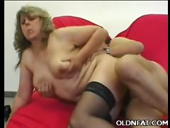 Fat Mature Pussy Plugged with a Dick
