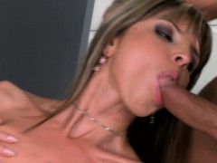 Petite beauty pounded in threesome