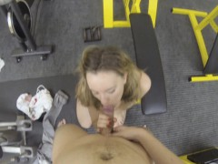 I invited this cutie to my private gym to show her a few