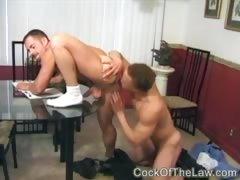 Gay cop gives prisoner a hard lesson