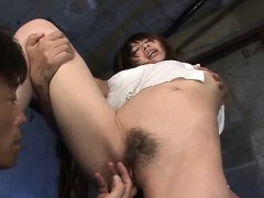 Cock sucking Junna Kogina gets fucked in threesome