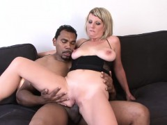 Interracial Anal Sex for Milf with Big Tits hot titfuck