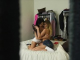 Haven Rae and Sydney Cole shared stepbro in the bedroom