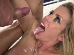 Bigtits milf banged after sucking cock