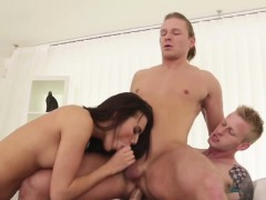Vanessa sharing throbbing cock with bisexual guy