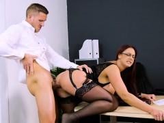 Massive boobs Emma Butt pussy slammed by throbbing cock