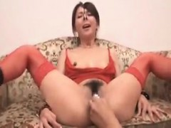 Japanese hairy pussy ramming